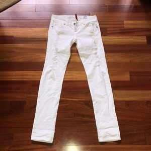 GUESS white ripped jeans